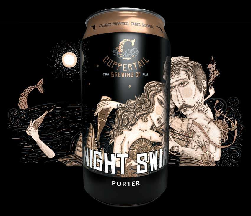 What just touched my leg? - Night Swim is a member of our Core-4 beers and perfect go-to for dark beer lovers. Locally roasted chocolate rounds out the perfect level of malt.