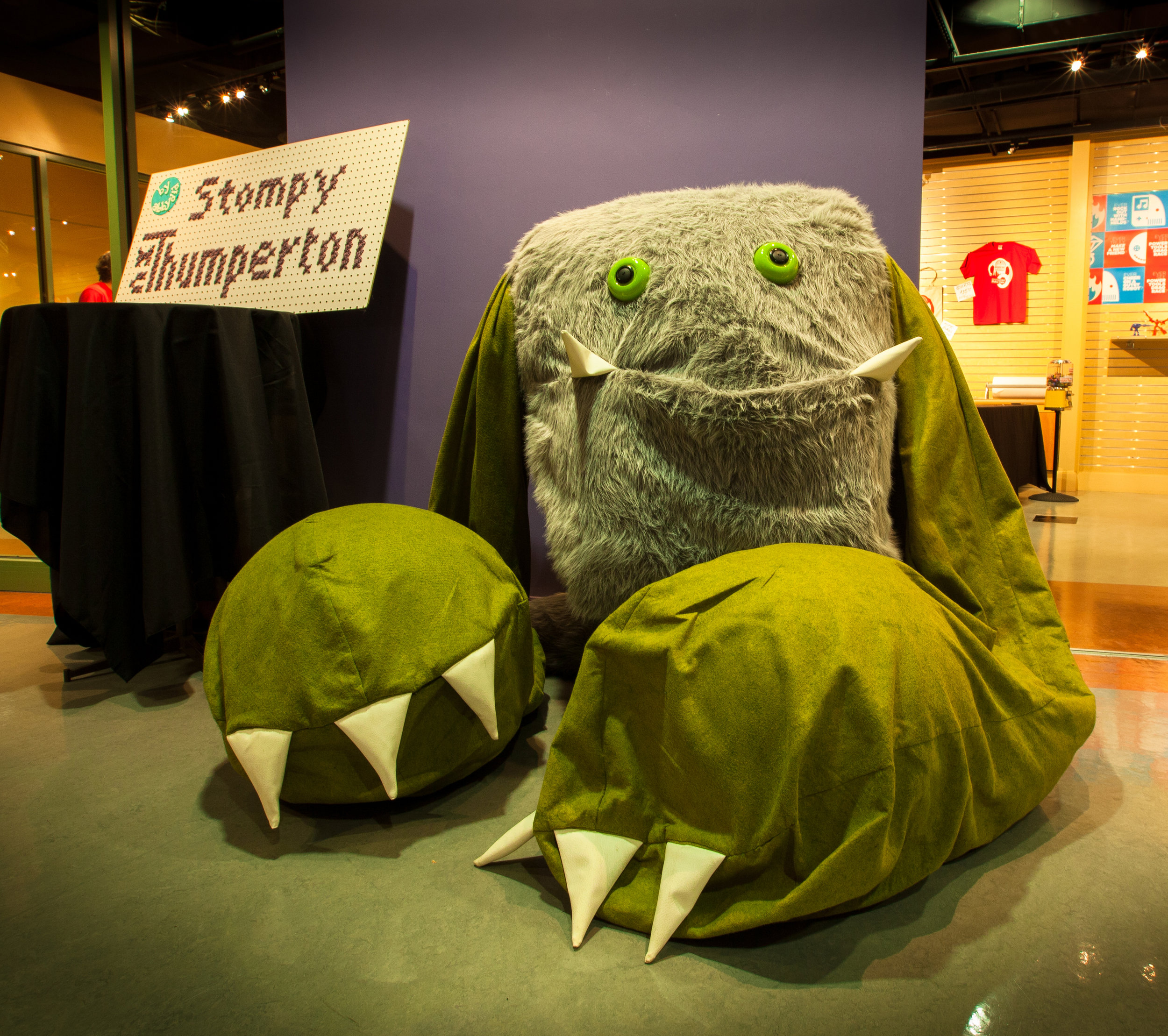 After a day of playing at Maker Faire, Stompy was feeling a bit disheveled.