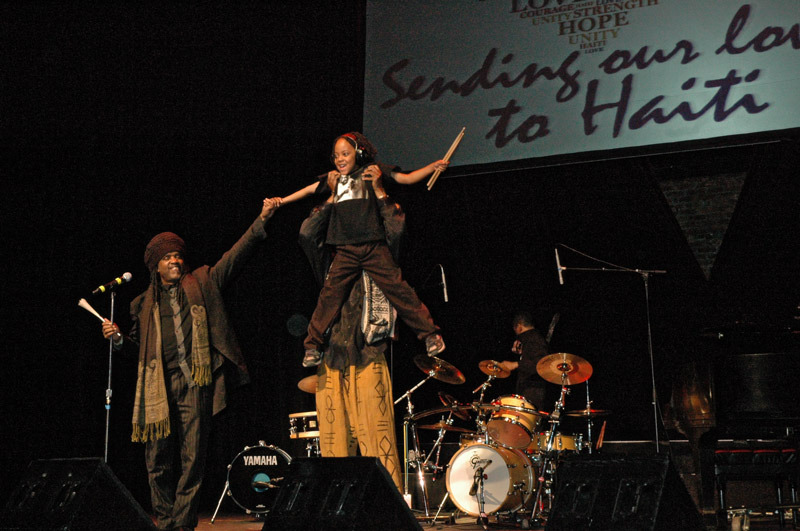 Performing with with Roy Wooten at the benefit show for Haiti!