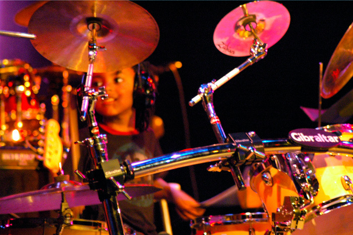 """Winter 2009, Malachi performing at the National Black Theatre, Harlem NY for the Documentary """" Encounters in Jazz """"."""