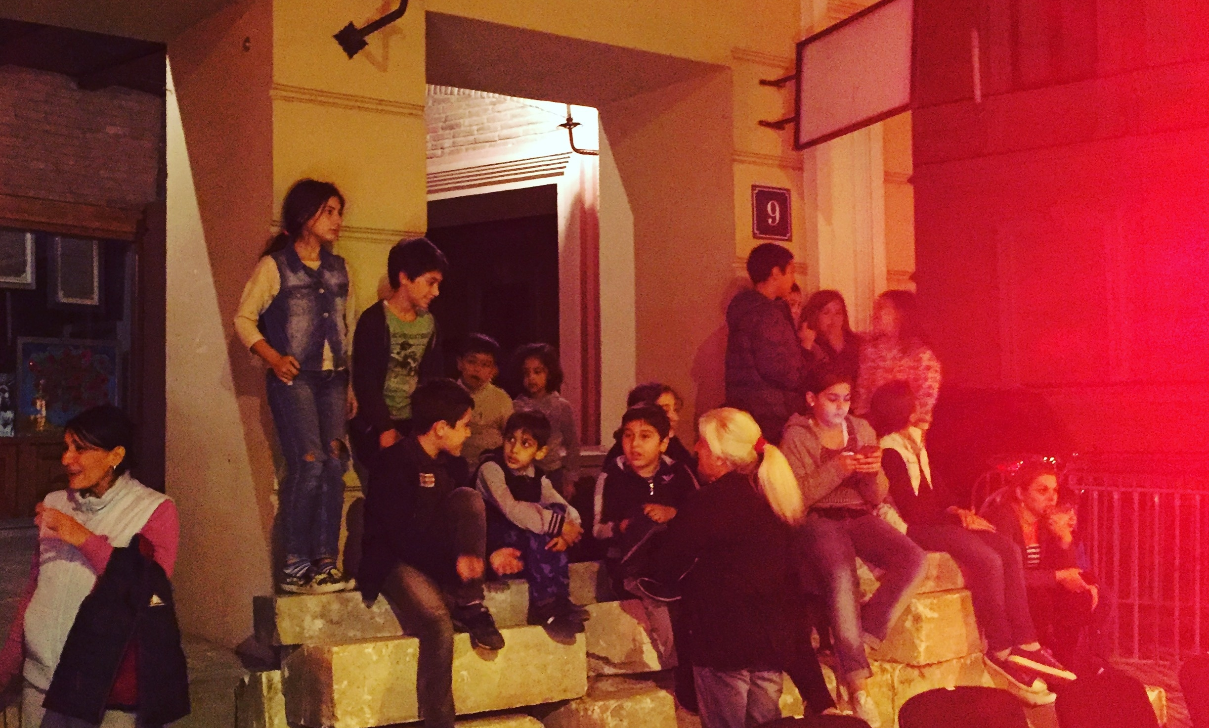 Kids watching Of Riders and Running Horses, Tbilisi