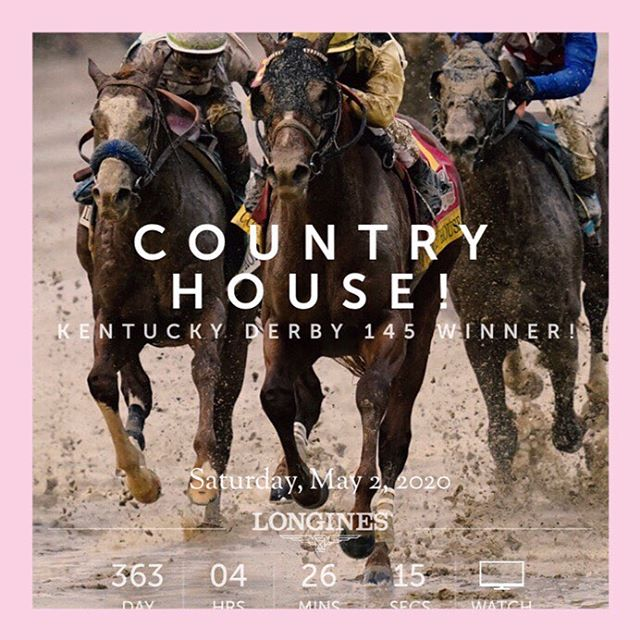 @kentuckyderby 2020 is less then a year away!!! What a wild and crazy finish to Derby 145!!! Congratulations Country House!!! 🐎👒🐎 #gobabygo #headcandi #kentuckyderby