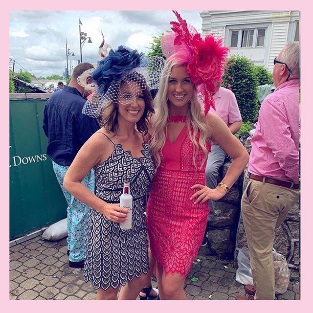 Dreaming of Derby 2020! Throwback to @kentuckyderby 2019 @lexymarsh & @jess_coleman55 Looking 🔥🔥🔥 #theJessandLexShow #kentuckyderby #headcandi #🔥🔥🔥 #derby #oaks #2019 #millinery #fashion #style #thurby #derbyhats #derbyfascinators #kentucky #louisville #churchilldowns