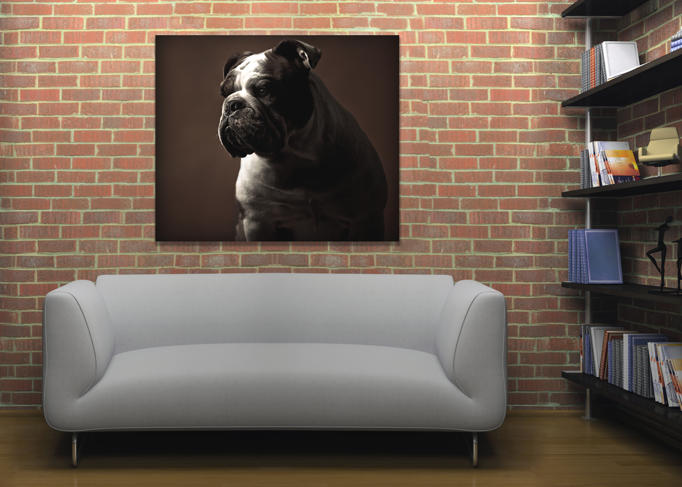 The best gallery is your home. Showcase custom artwork to create a space that speaks (or barks!) to your aesthetic.