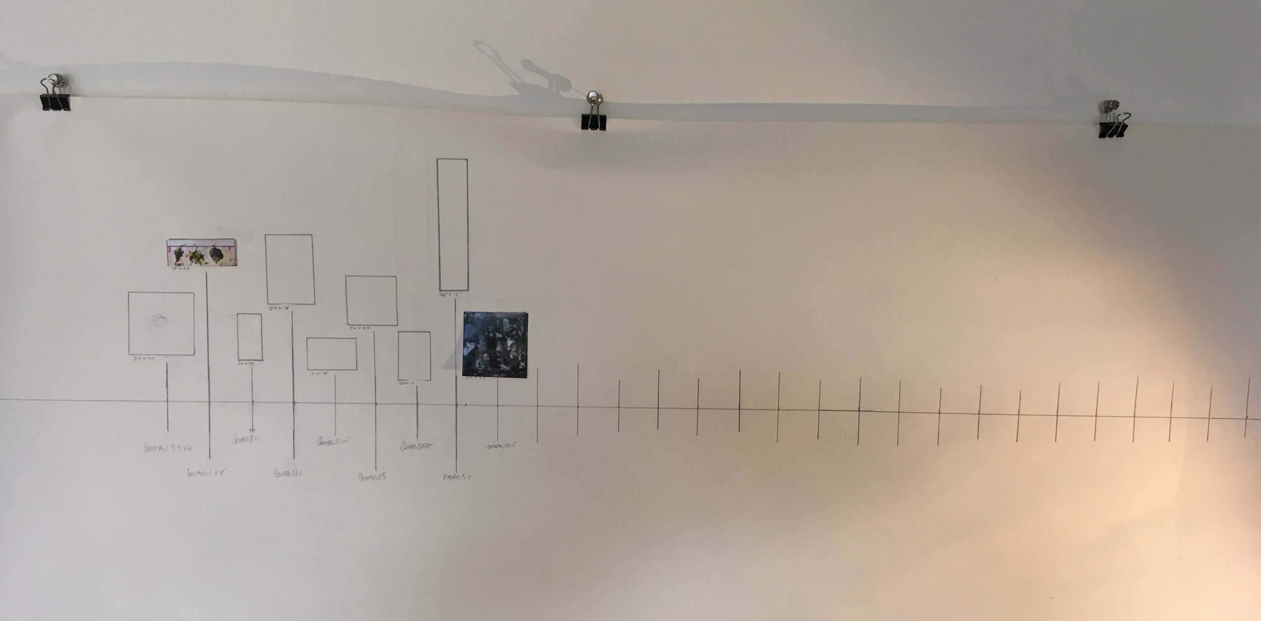 I've created a wall map to organize the images and to mark the progress of the project.