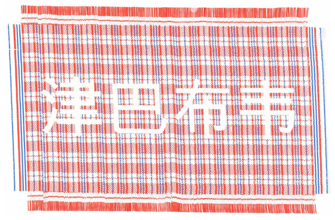Zimbabwe (red) (2016) Hand-woven archival ink-jet prints 80 x 120 cm