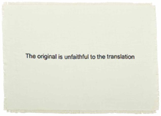 Dan Halter  The Original is Unfaithful to the Translation , 2015 Hand-woven archival ink-jet prints 64 x 90 cm