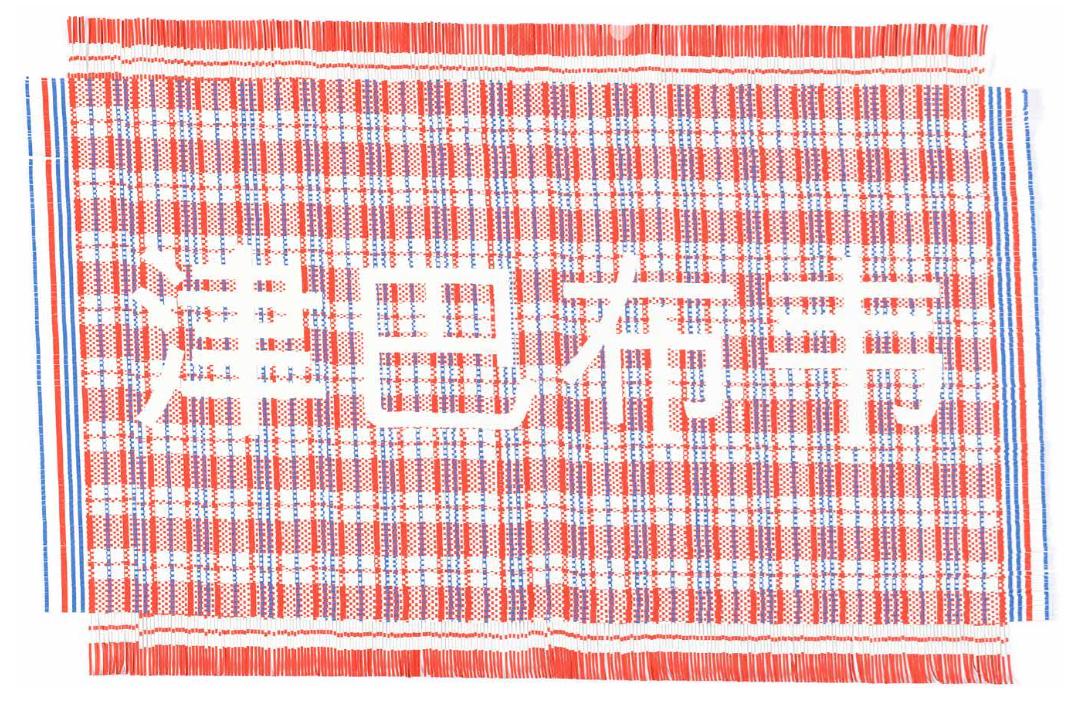 Dan Halter  Zimbabwe (red),  2016 Hand-woven archival ink-jet prints 80 x 120 cm