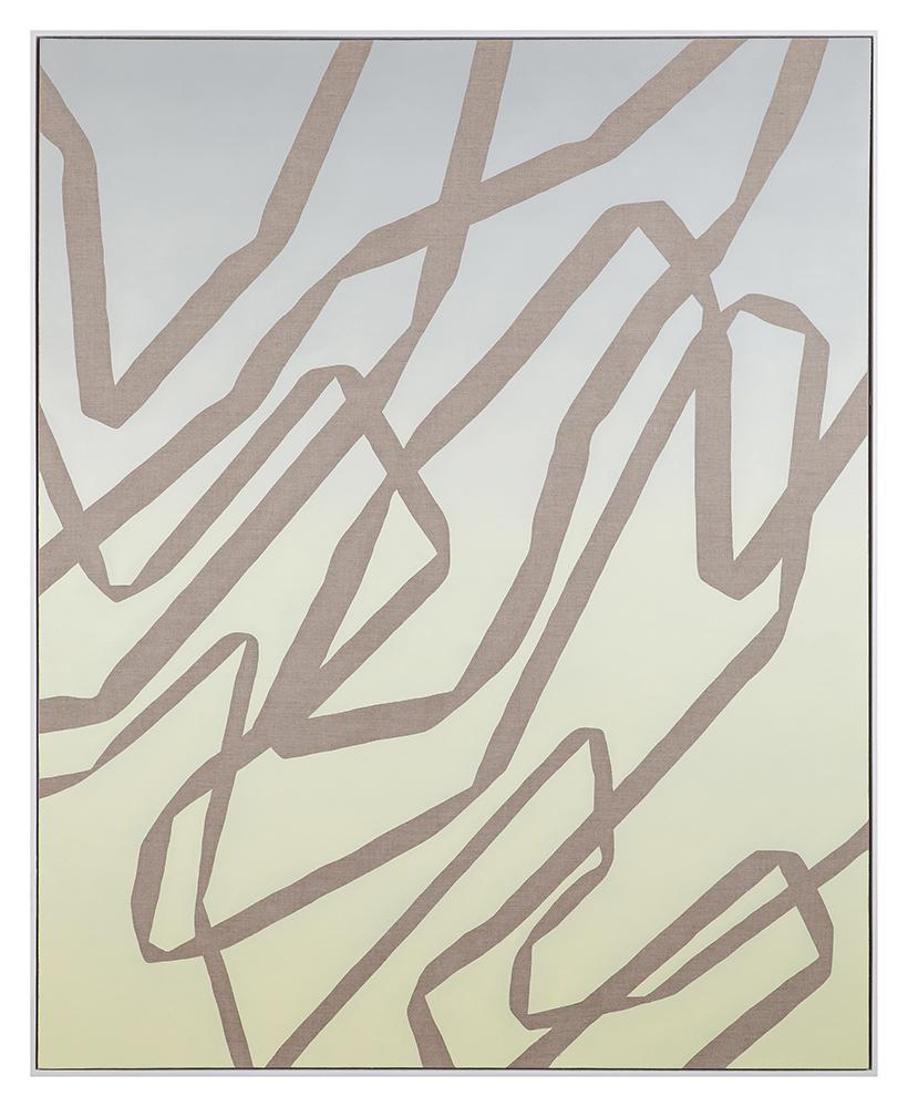 Steven MacIver  Fallen Geometry , 2017 Oil on Linen 152.4 x 121.9 cm