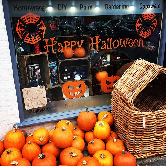 Festive Halloween display at Uttings