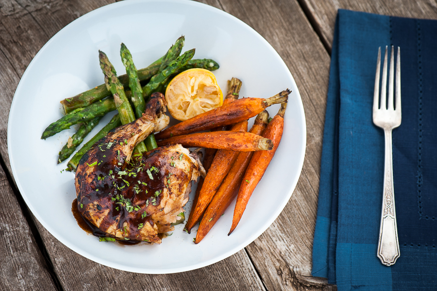 Citrus Roasted Chicken Leg with Veggies