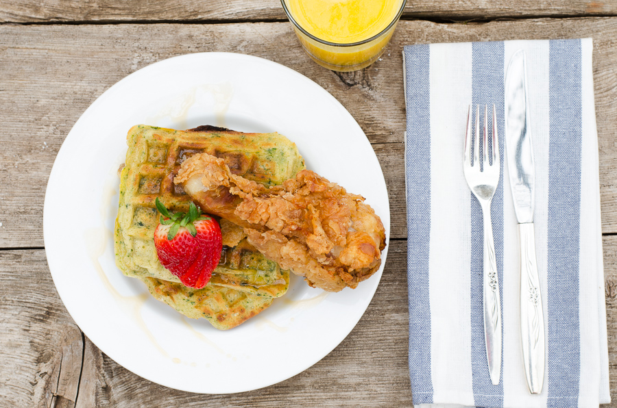 Fried Chicken & Roasted Poblano Waffles