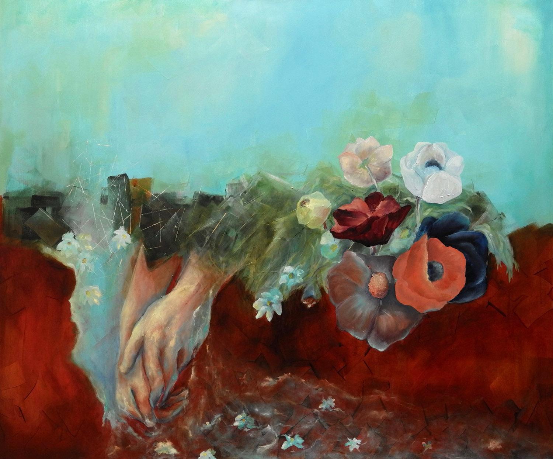 Flow/ Oil on canvas 120x100 cm/ 2018