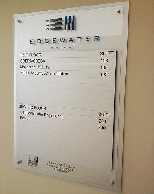 Interior Wayfinding Sign