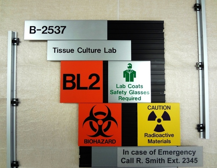 Interchangeable Lab Safety Sign