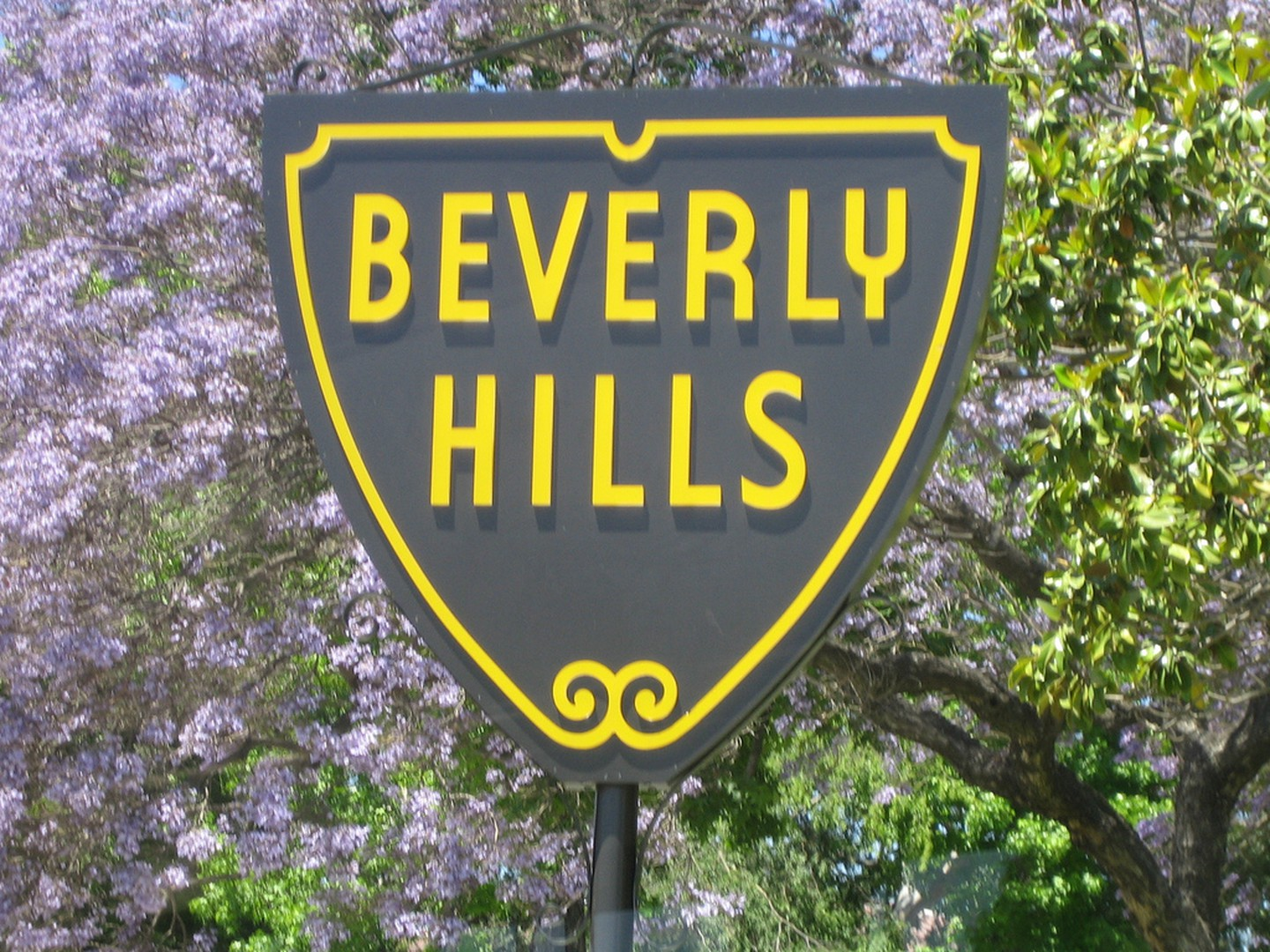 Beverly Hills - Beverly Hills sign is an iconic sign recognized all across America and around the world. The thirty-three shields located throughout the area have become tourist attraction in themselves.