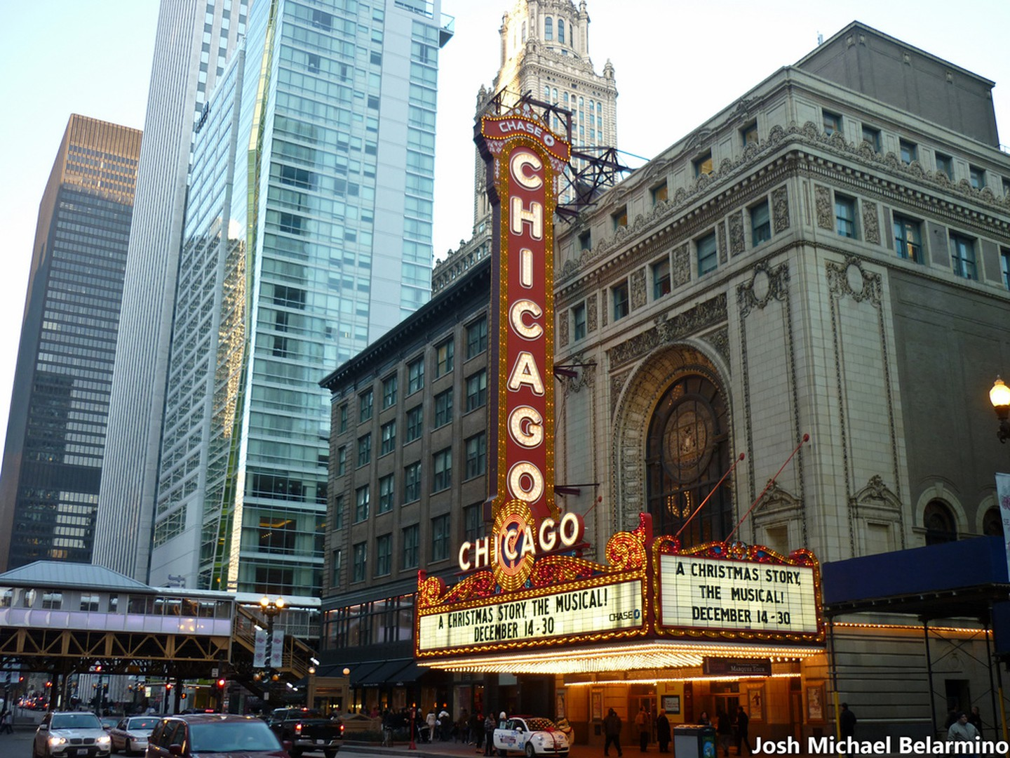 "Chicago Theater - The Chicago theater has been the place to be for the cities best live entertainment since 1921. It's 60 foot ""Chicago"" sign has been an iconic image of the city and tells a tale of inspiration."