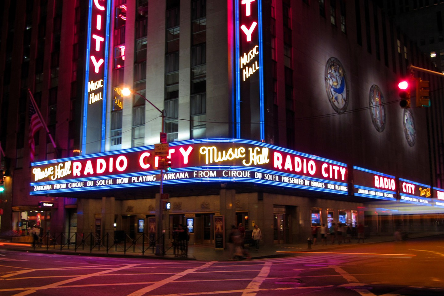"Radio City Music Hall - Since 1932 ""The showplace of the nation"" located in New York City has been a symbol of fame, fortune, and dreams. Radio City Musical Hall, just like the Hollywood, Beverly Hills, and Las Vegas sign has become a tourist attraction in itself."