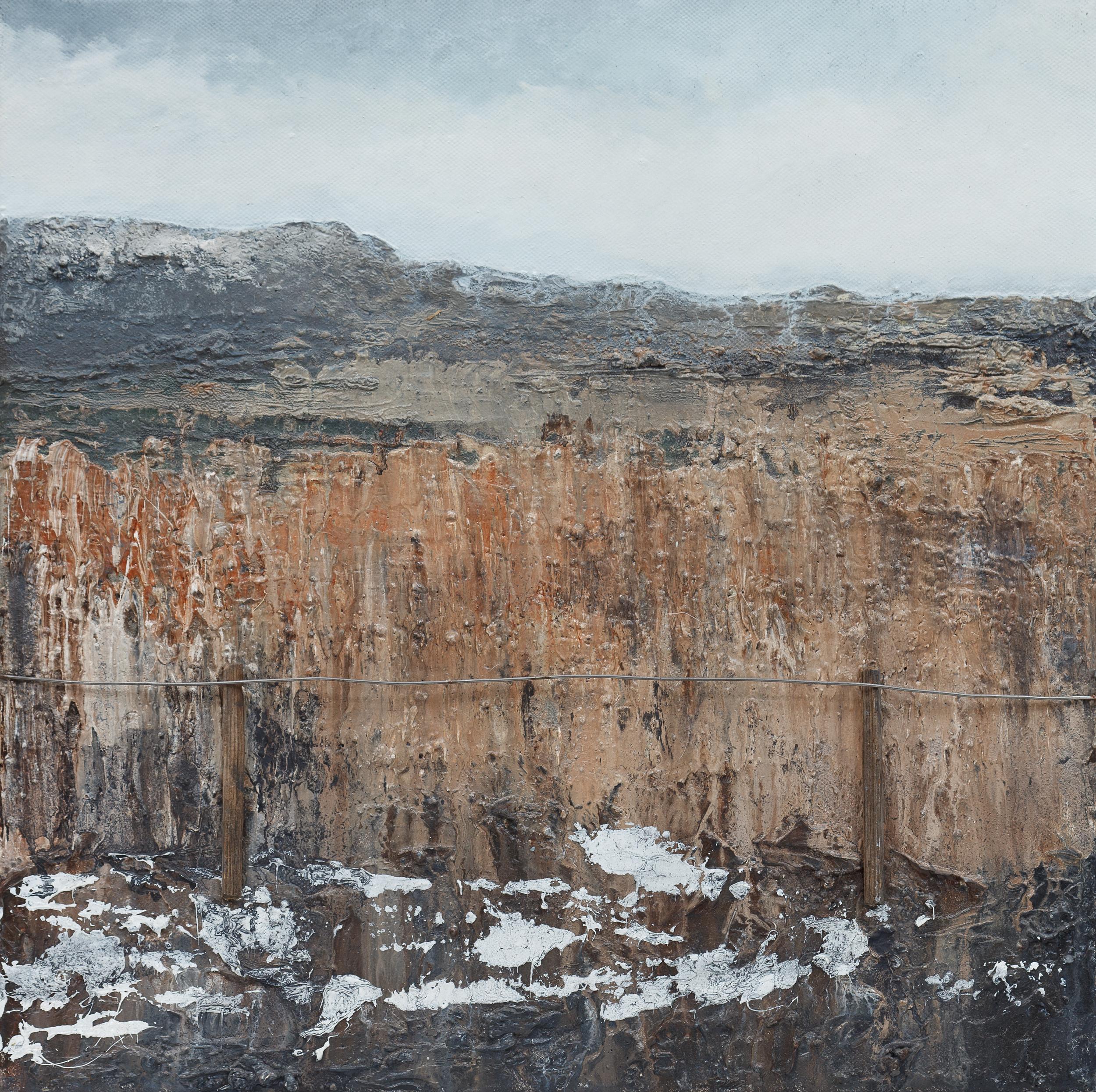 Hidden Oil and mixed media on canvas 40x40cm