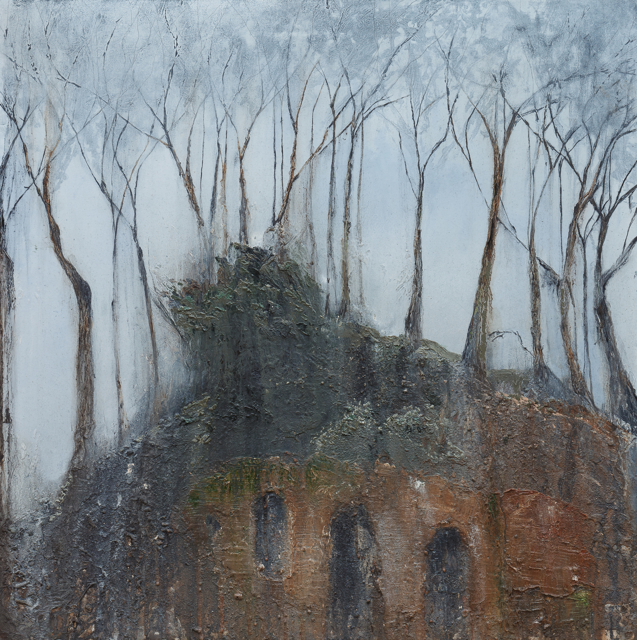 The whisper Oil and mixed media 70x70cm