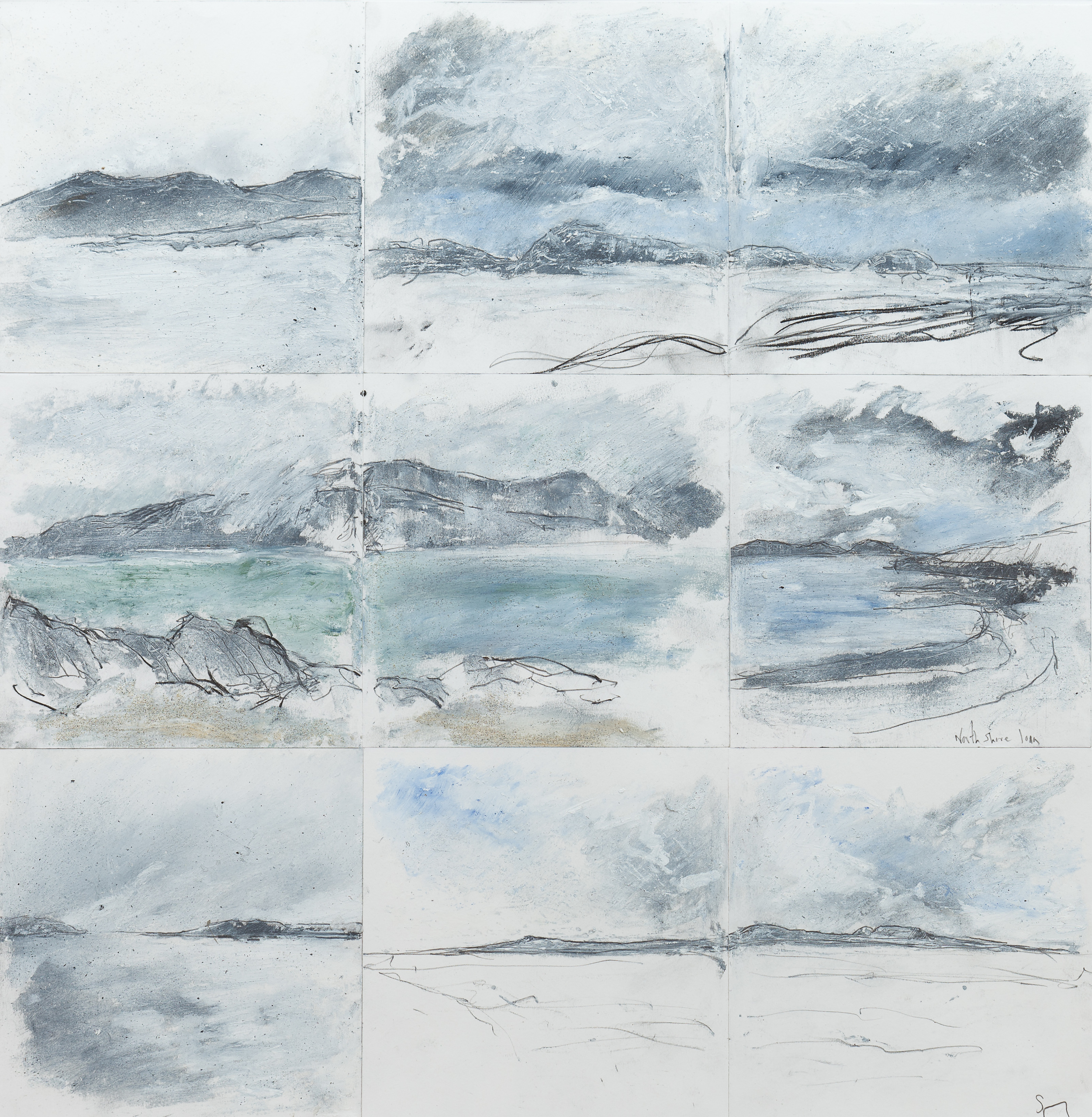 Iona Drawing montage Mixed media on paper 60x60cm