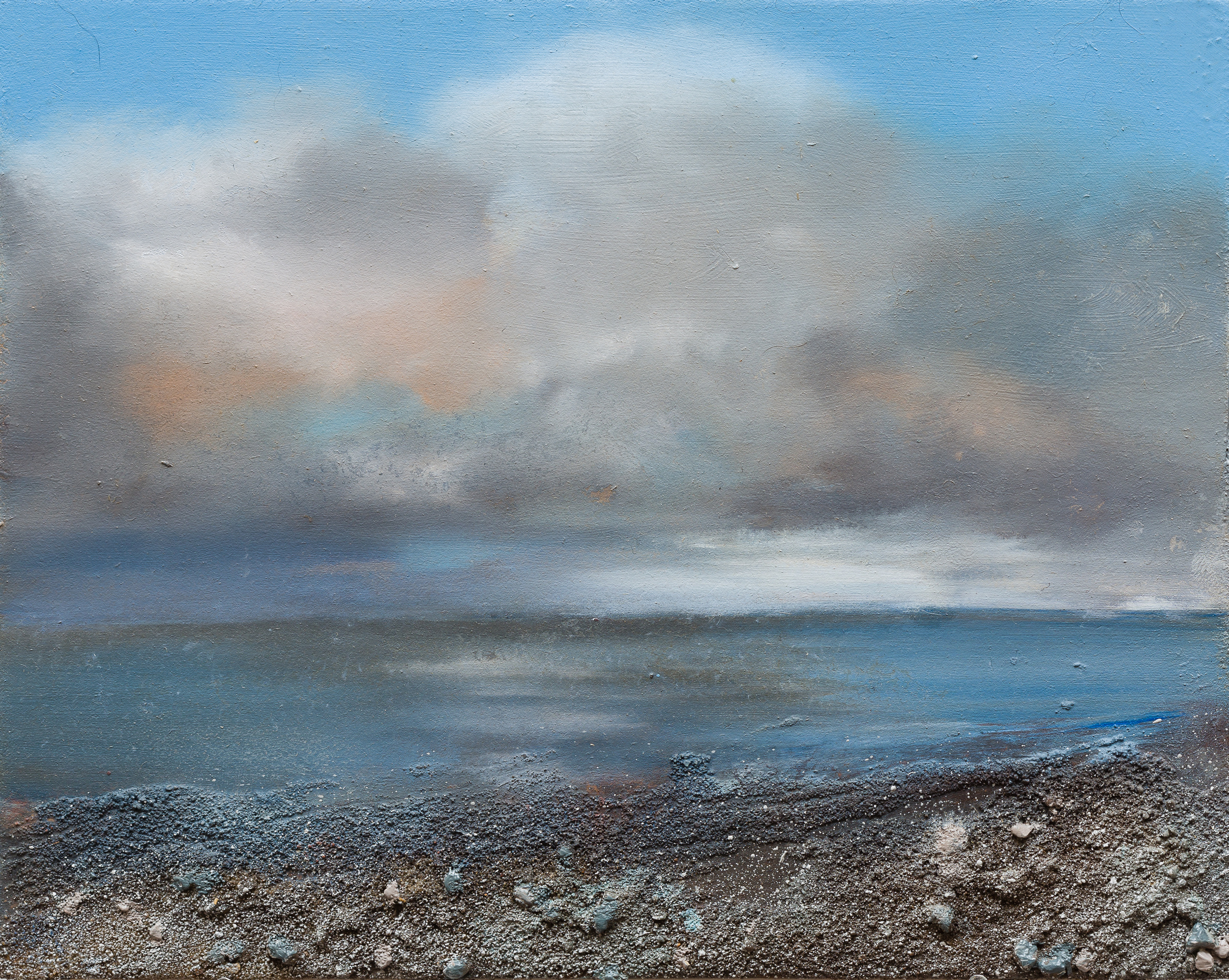 Above the water Oil and mixed media on board 16x40cm