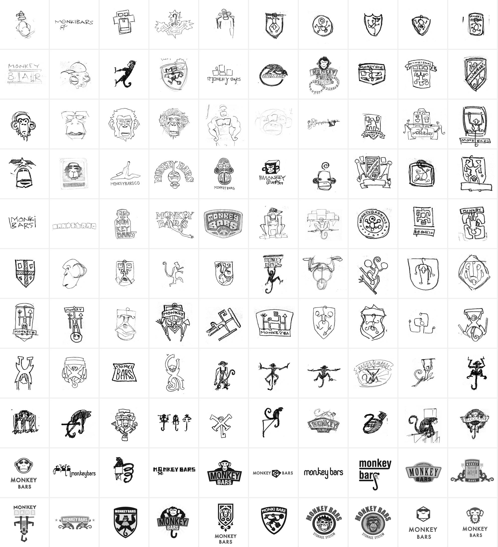Monkey Bars Logo Sketches