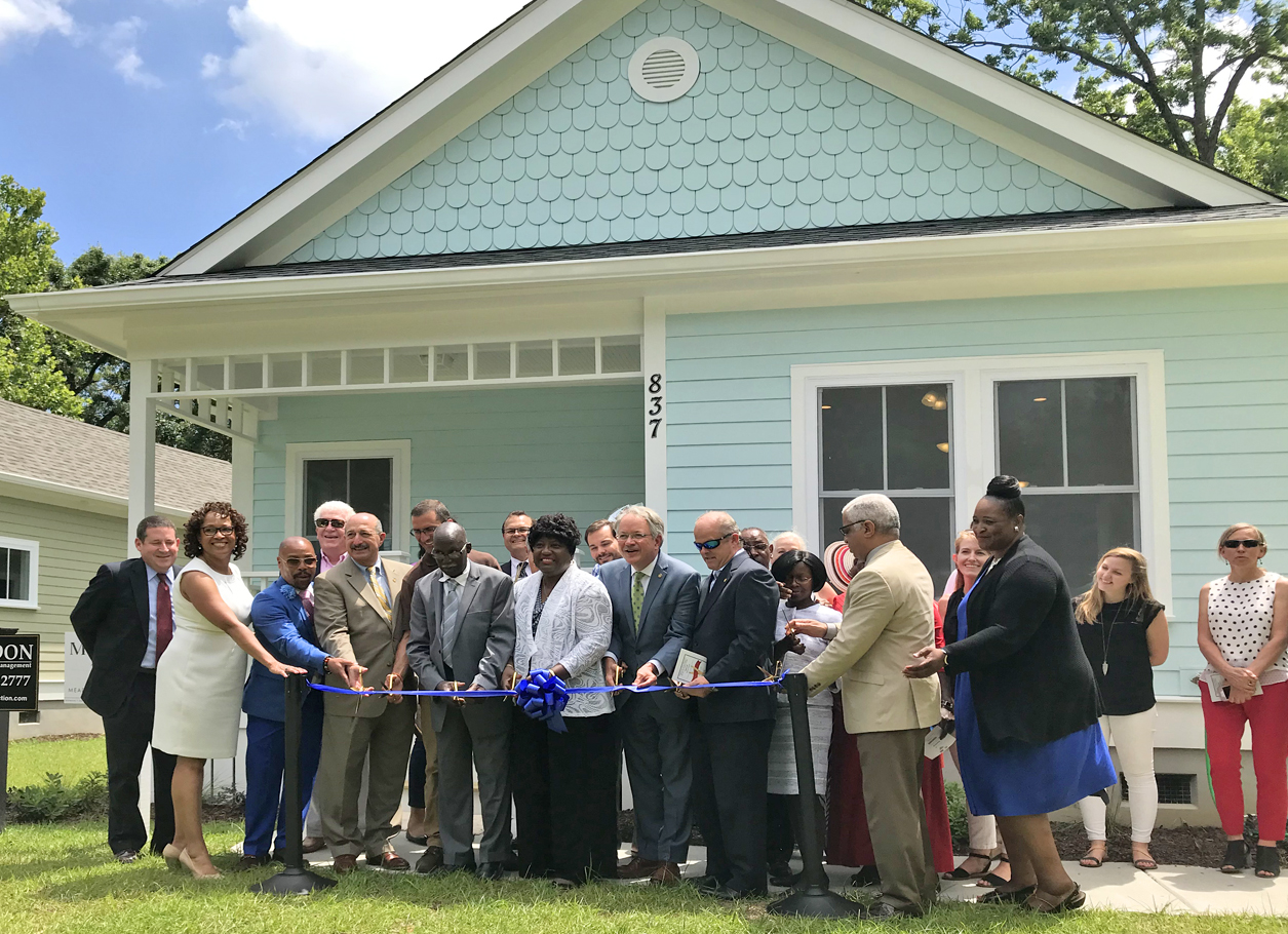 May 16, 2019 - The official ribbon cutting for the Affordable Housing homes designed by the Meadors Architecture workshop. Click on the photo to see the coverage.