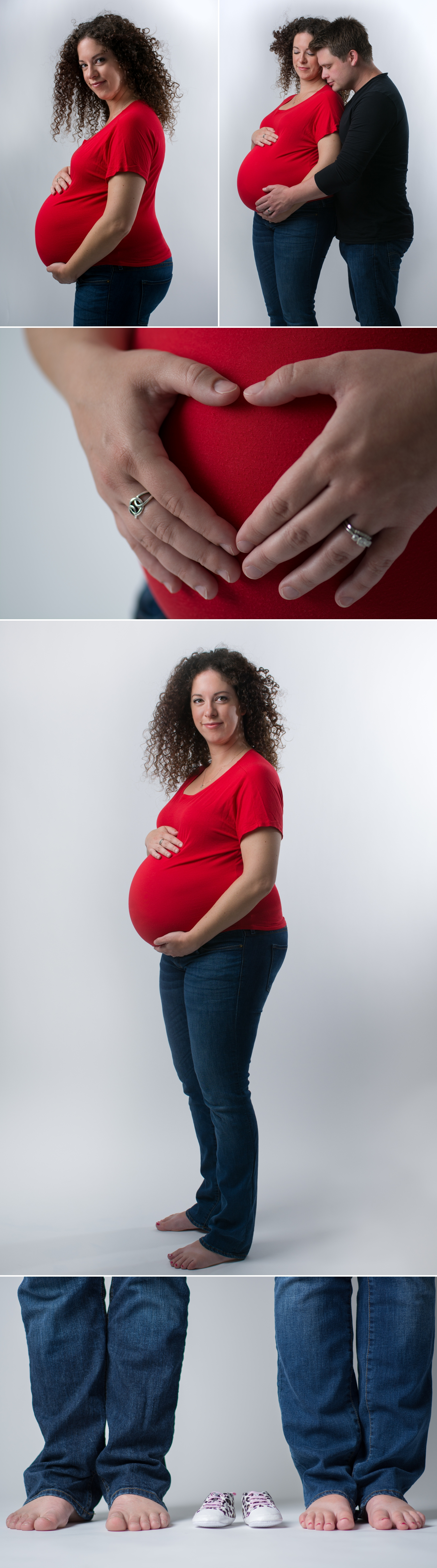 Maternity in studio Lifestyle Photography by Friday Design + Photography from Edmonton, Alberta, Canada.