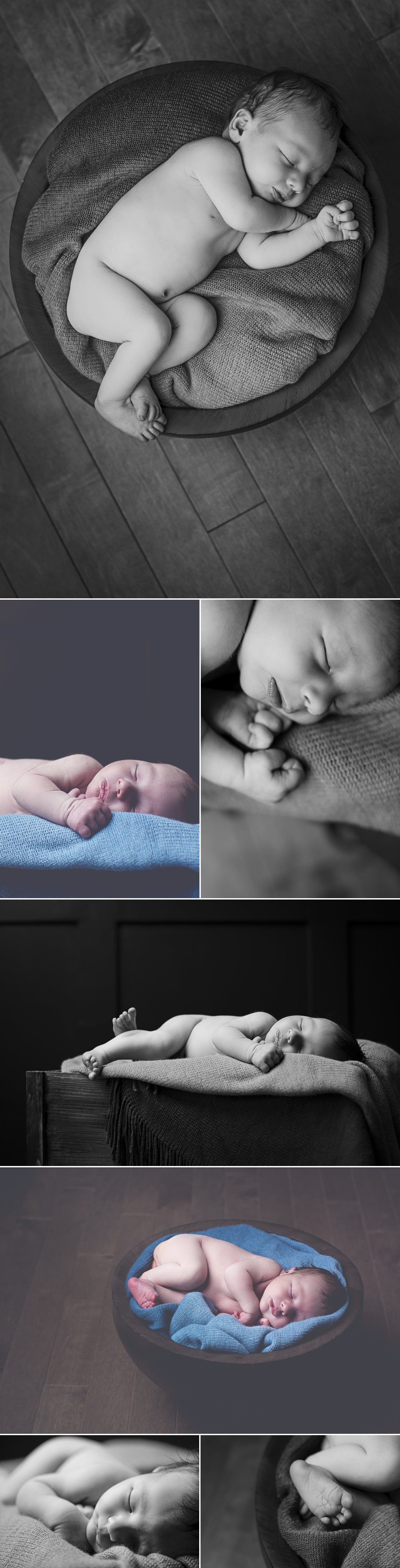 Newborn in studio Lifestyle Photography by Friday Design + Photography from Edmonton, Alberta, Canada.
