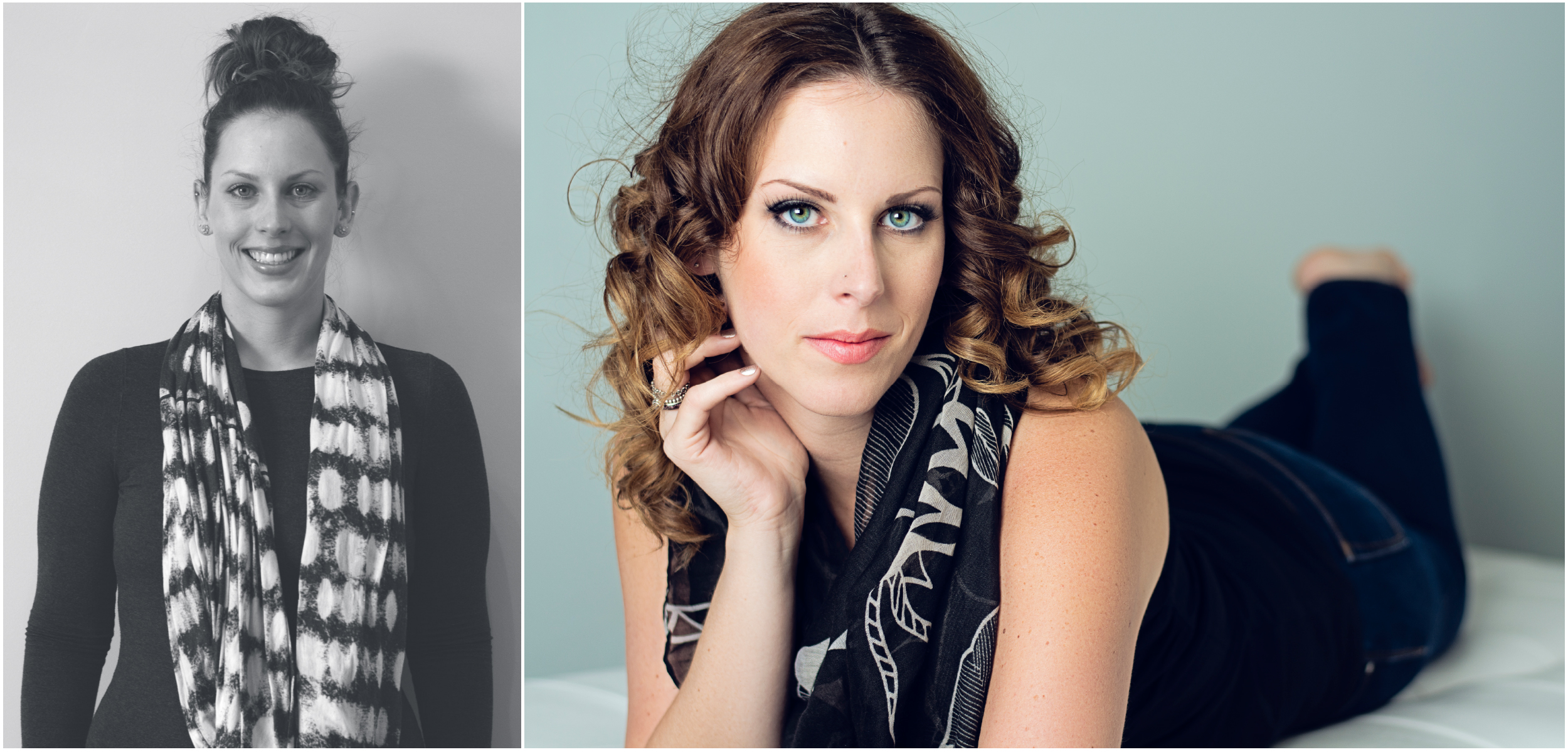 Before and After Portrait Photography by Friday Design + Photography