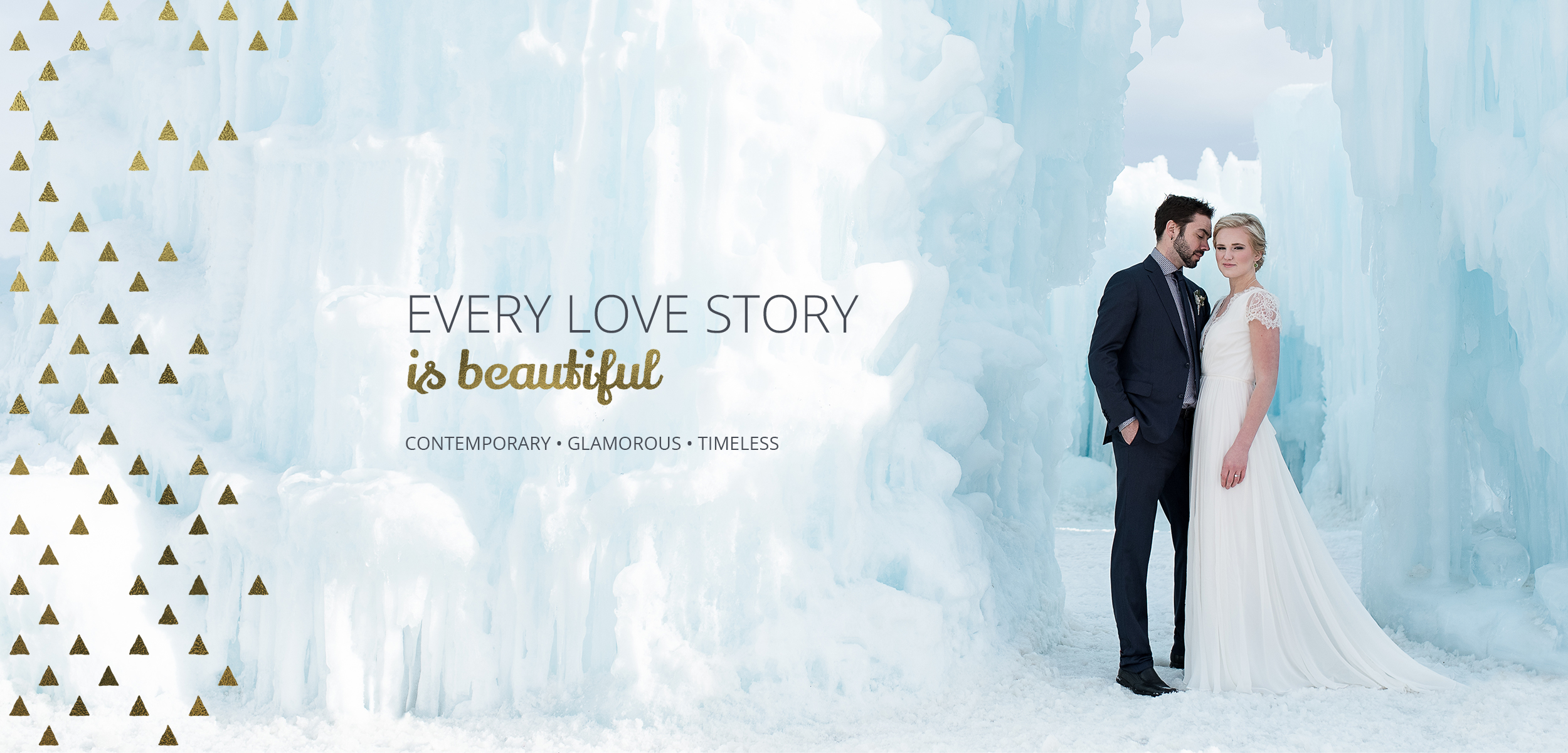 Ice Castle Nordic Inspired Styled Wedding. Photograph by Kelly Skinner of Friday Design + Photography.Every love story is beautiful. Contemporary, gorgeous, timeless