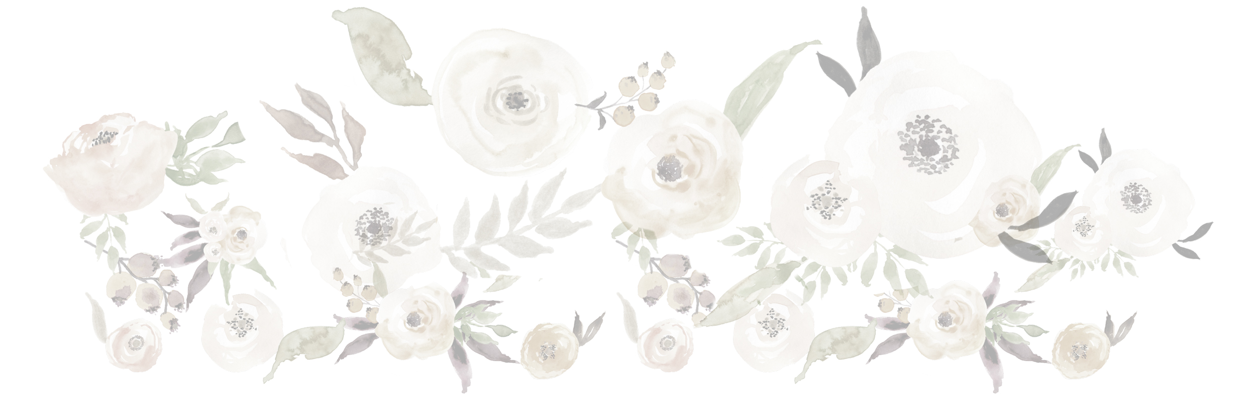 watercolour flowers design element