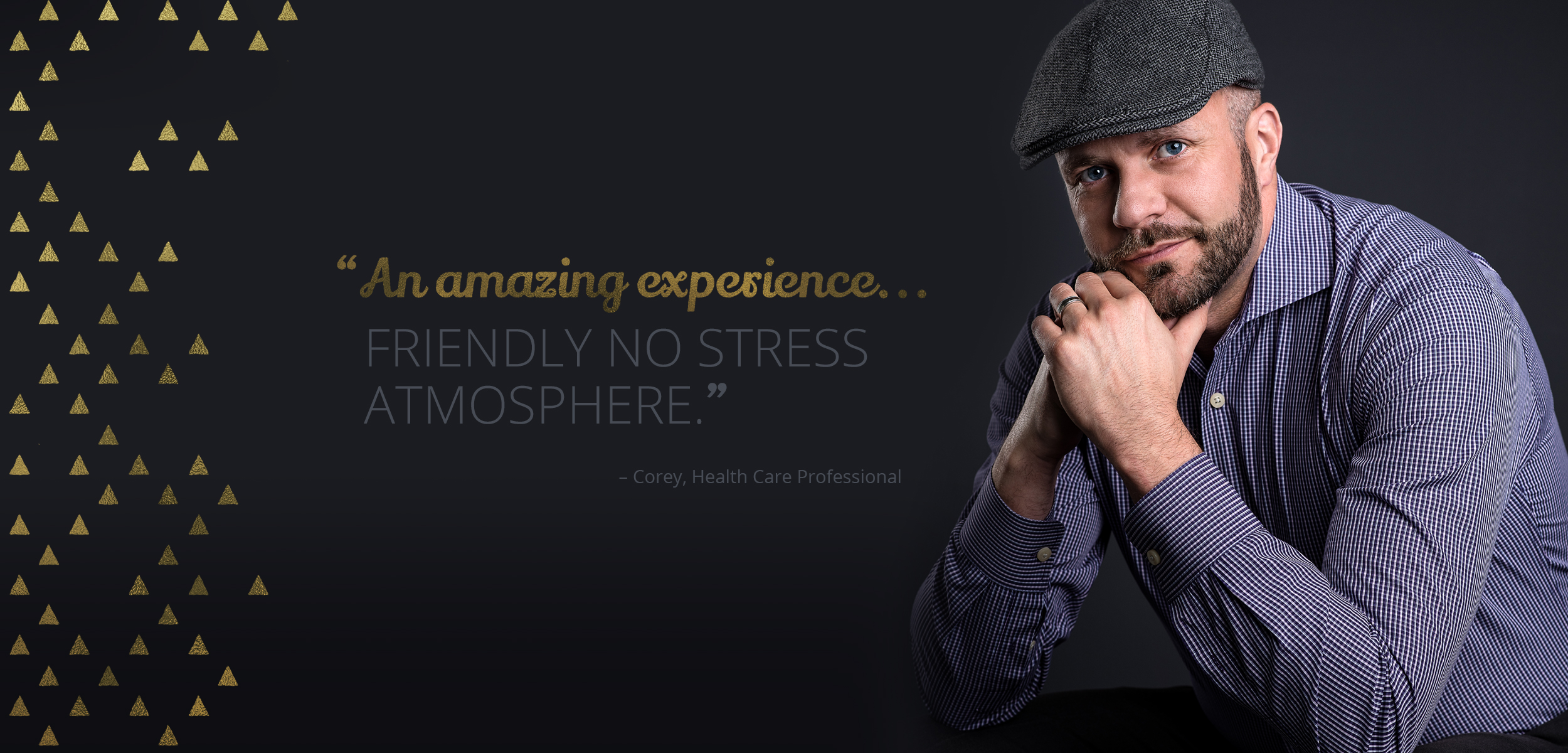 """Portrait Photography by Kelly Skinner of Friday Design + Photography """"An amazing experience... friendly no stress atmosphere."""" - Corey, Health Care Professional"""