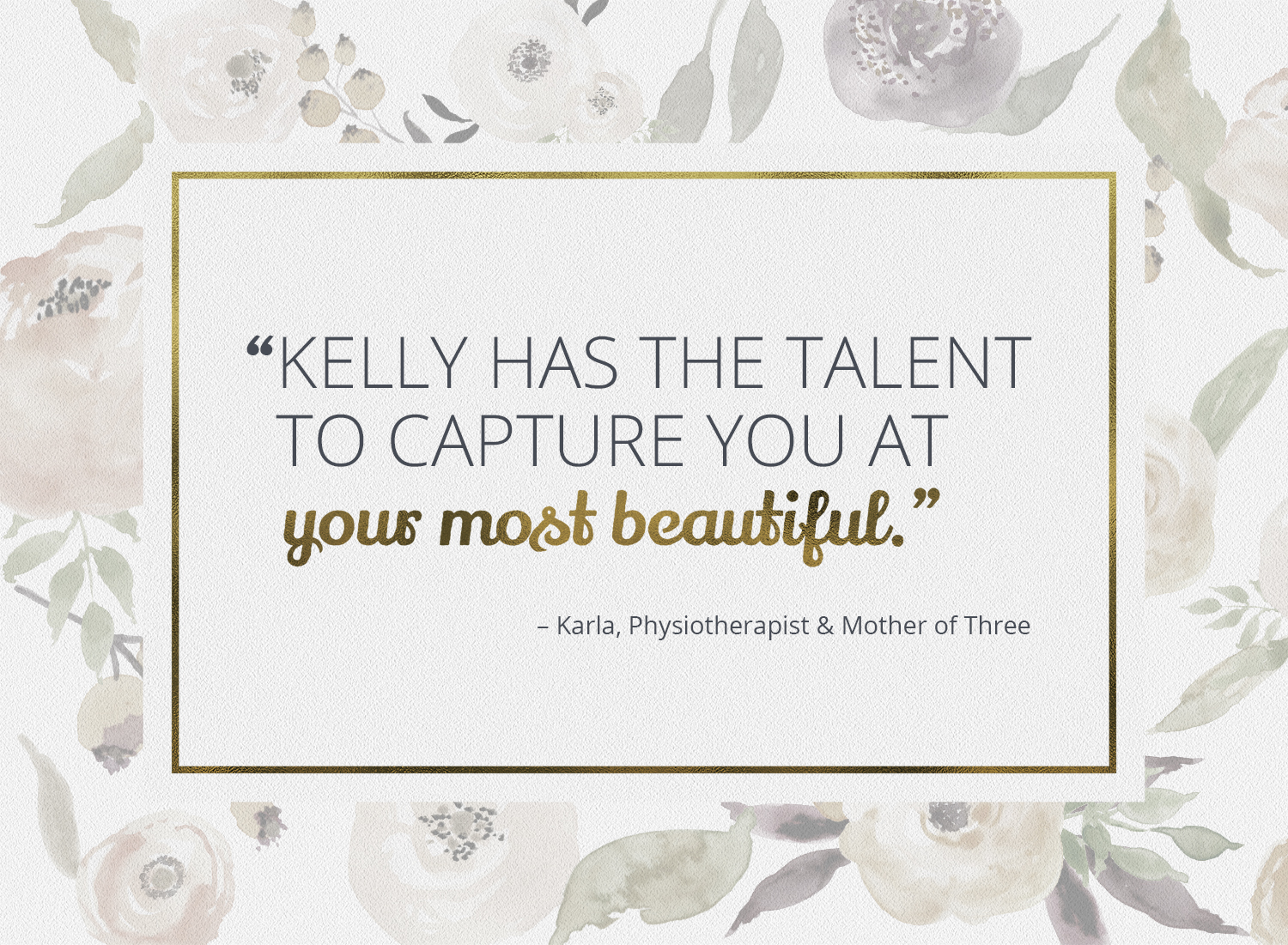 Boudoir quote by Karla