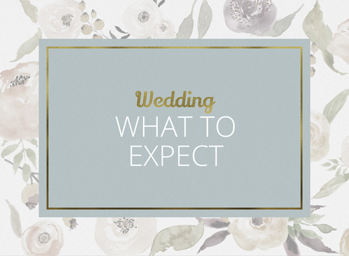 wedding what to expect page link
