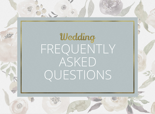 Wedding Frequently Asked Questions page link