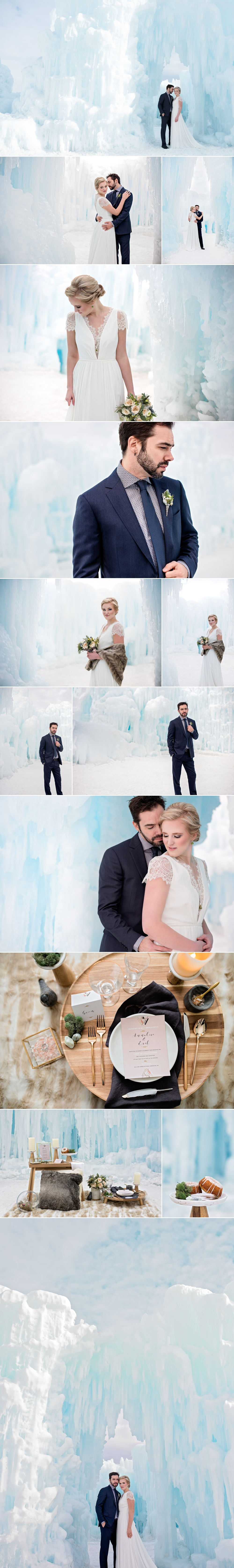 Ice Castle Nordic Inspired Styled Wedding by Friday Design + Photography in Edmonton, Alberta, Canada