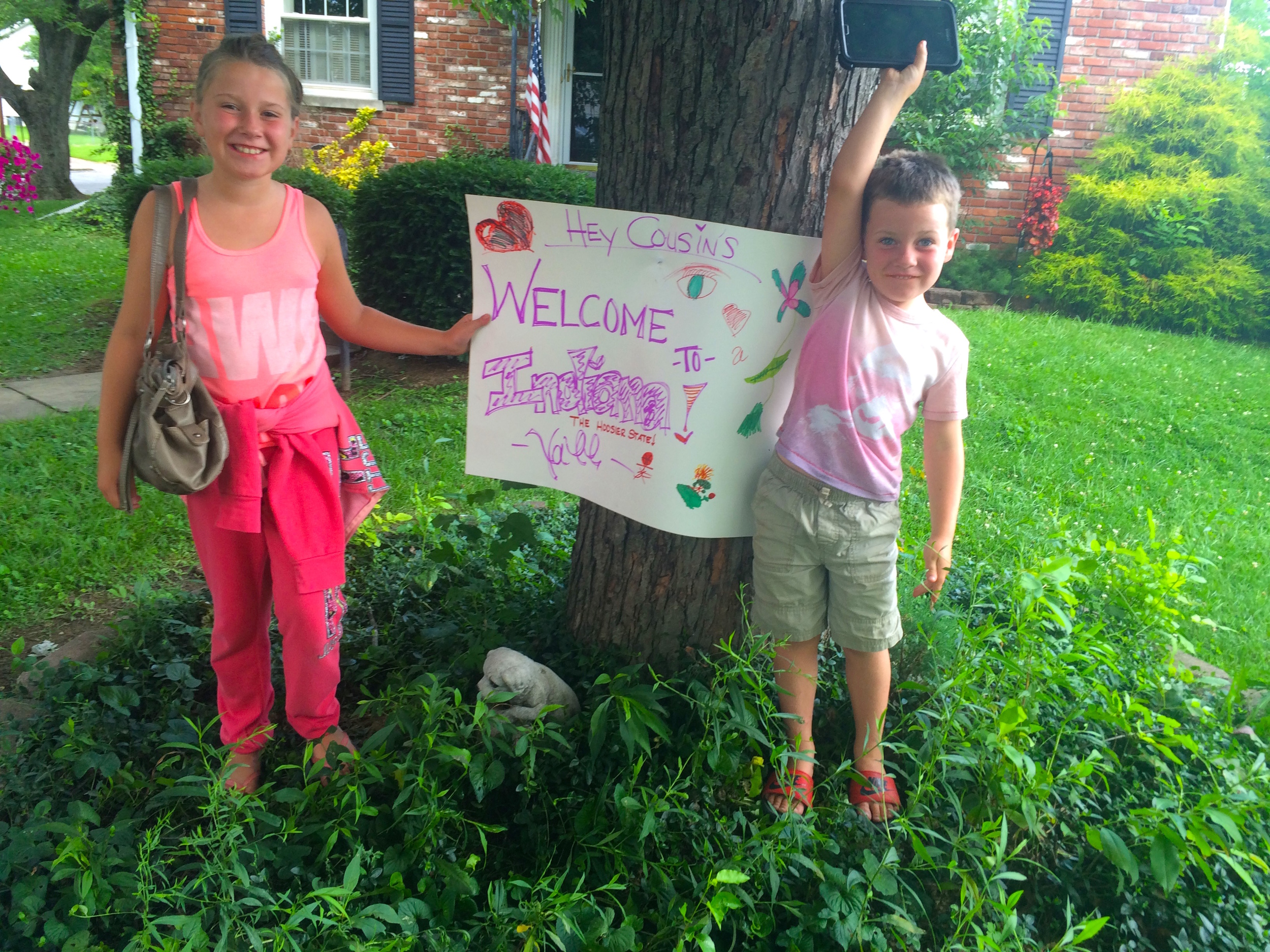 Gracie & Gavin made a wonderful welcoming committee.