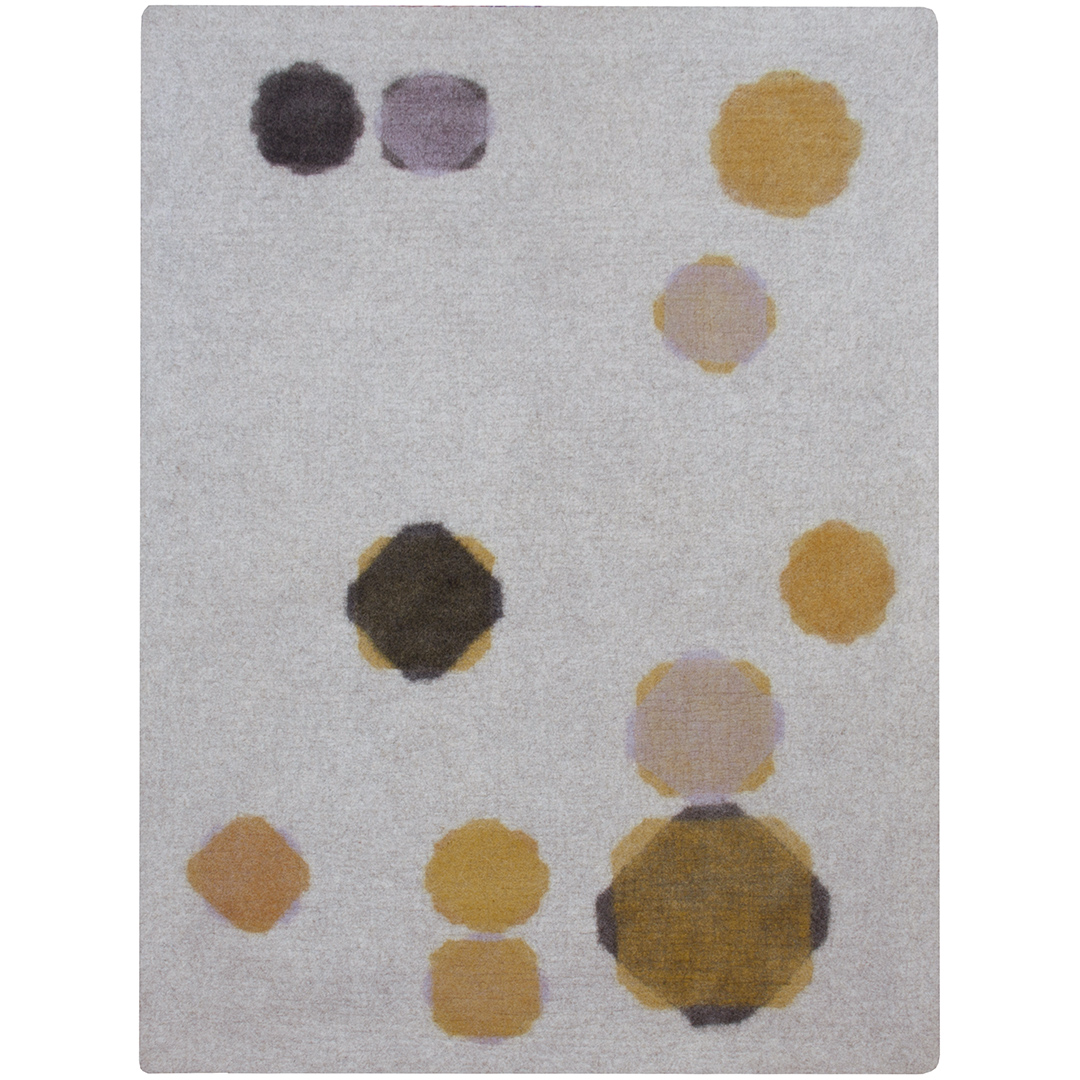 6'x8'  camel/lilac/ochre/nutmeg