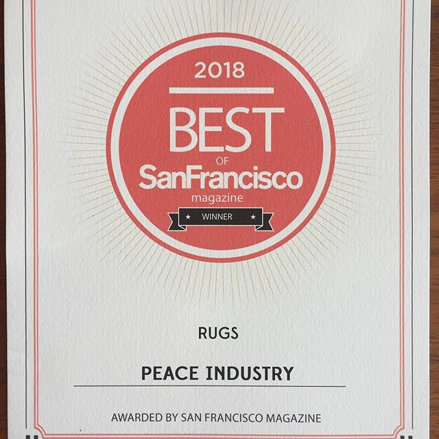 Thank you @sfmagazine for the recognition. Is seems so weird that we are closing for good. I wish US policy towards Iran wasn't so colonial and racist. And no, it's not just the current administration. The U.S. Has been interfering with Iran since 1953, at least. The closing of our business is just one more example. This truth may be inconvenient but we've earned it. #fucktrump #racism #iran #peace #oil #smallbusiness #momandpop #bestofsf #bestofsfmag #feltrugs #rugdesign #fucklockheadmartin #fuckraytheon