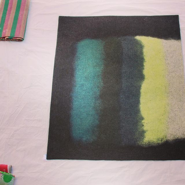 Sneak peek at the Cake rug coming soon. #felt #watercolor #abstractmodern #woolfelt #rugs #rugdesign #contemporaryart #painting