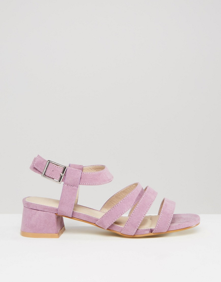 Lower cost option : ASOS FORTRESS Flared Heel Sandals (via  asos.com )