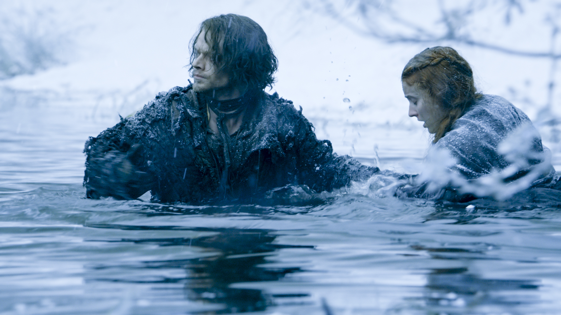Theon and Sansa:would you call them BFFs of sort? (image via HBO)