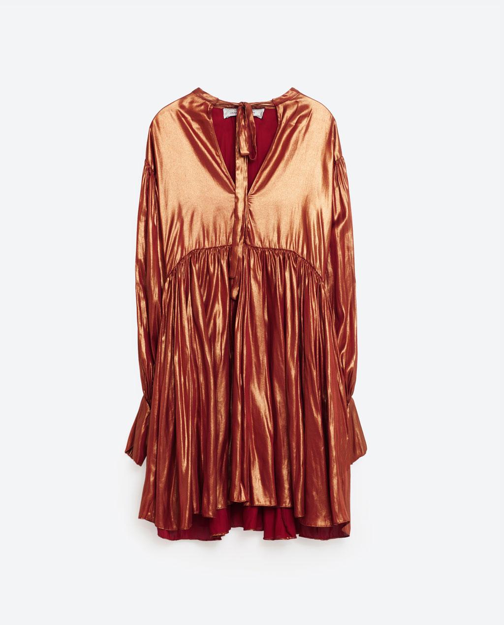 This Zara dress is really fun. (via  Zara )