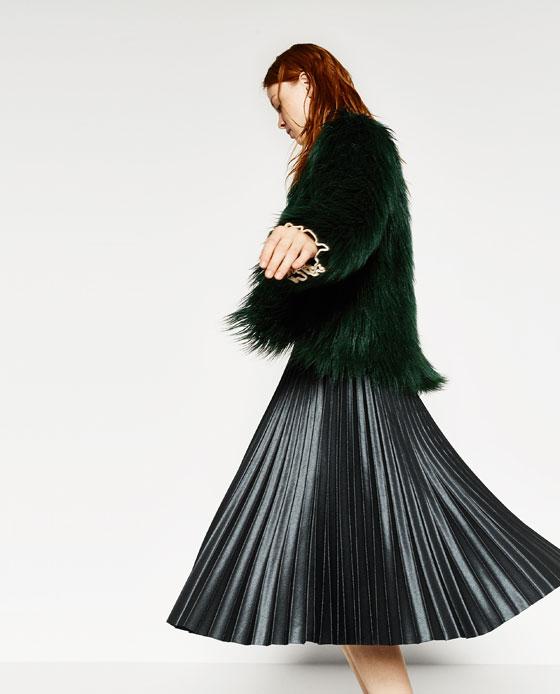 That fur is a nice touch. (via  Zara )