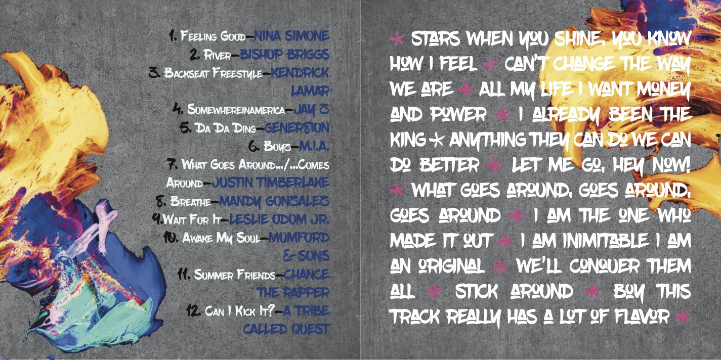 Track listing from 4-panel insert.