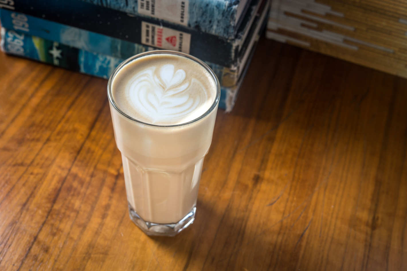 Latte at Everyman Espresso. Photo: Paul Wagtouicz. (via nymag)