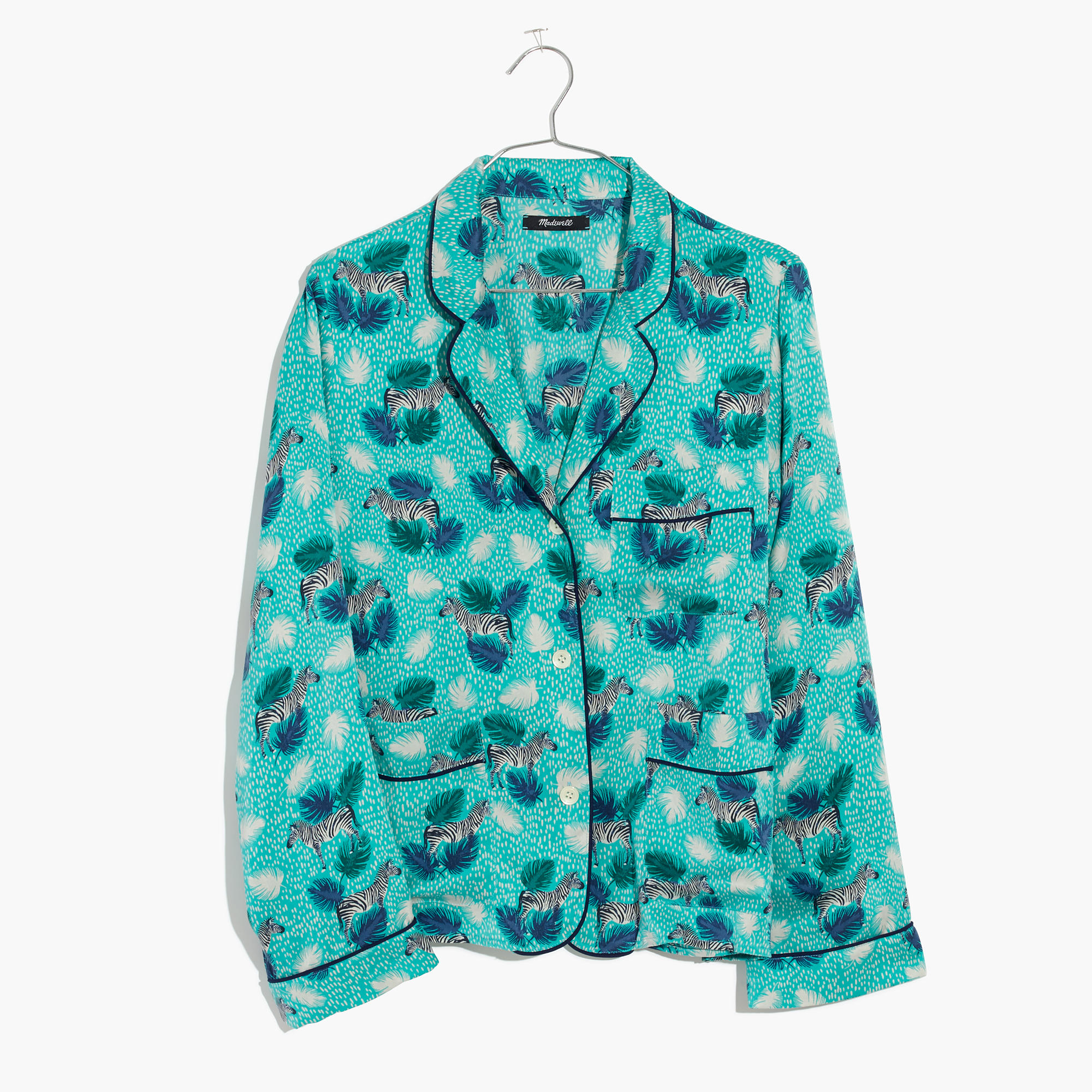 Silky zebra power yeah! A pajama shirt for any time. (via  madewell )