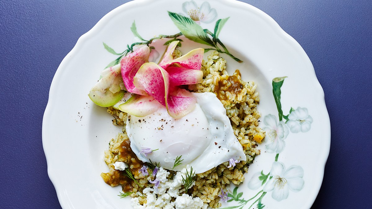 I still dream of one day trying this Sorrel Rice Bowl with Poached Eggs from Sqirl. It's like a better version of my everyday eats. (image via  bonappetit )